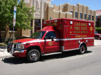 A Laramie Fire Department ambulance
