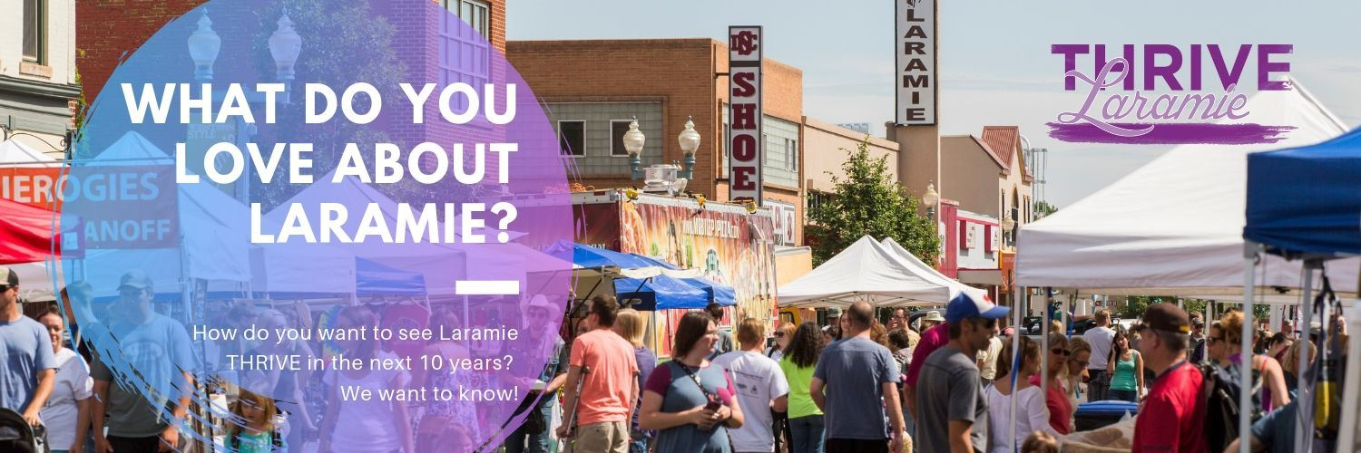 "Picture of laramie farmer's market reading ""what do you love about laramie?"""