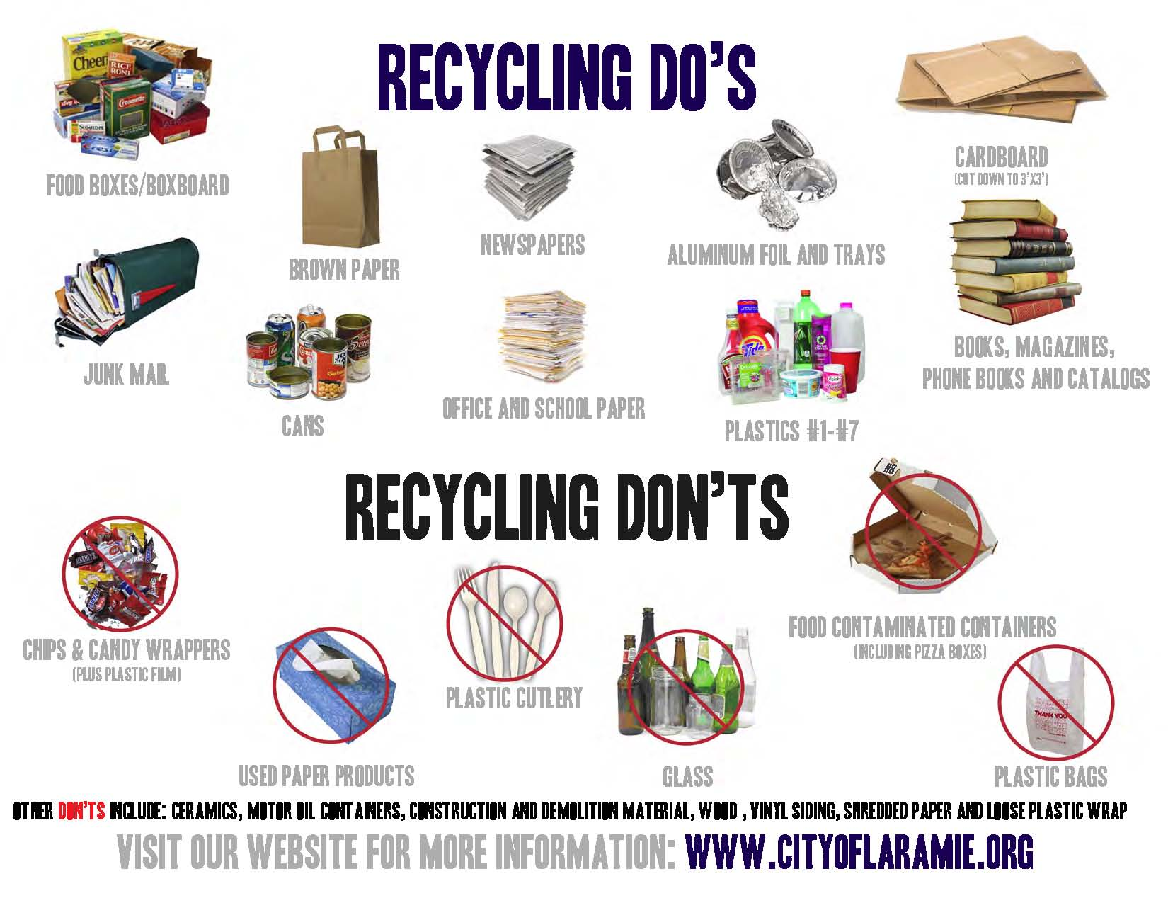 Laramie wy official website accepted materials non for Waste things product